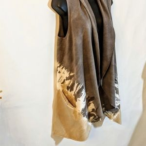 Jackets & Coats - BoHo Tie Dye French Terry Wrap Pocketed Vest